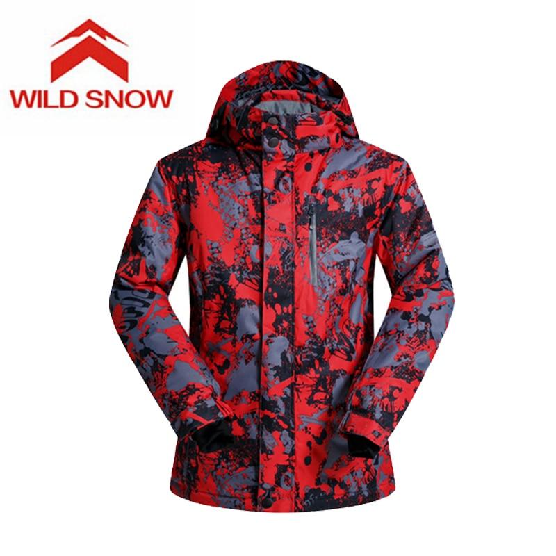 Sauvage neige marque 2017 hommes Ski vestes Snowboard mâle hiver Ski de montagne vêtements hiver manteau neige imperméable Camping en plein air - 4