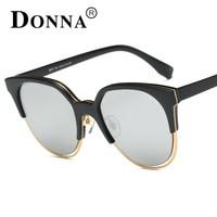 Donna Oversized Sunglasses Women Cat Eye Round 2016 Fashion Ladies Luxury Vintage Brand Designer Retro