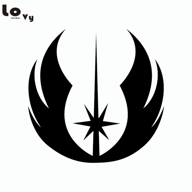 Classic Movie Star Wars Jedi Symbol Vinyl Wall Stickerdecal Home