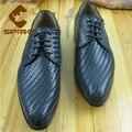 De lujo para hombre cosido goodyear zapatos hechos a medida vestido de tejido Trenzado de cuero de oxfords zapatos cómodos zapatos de la boda masculinos