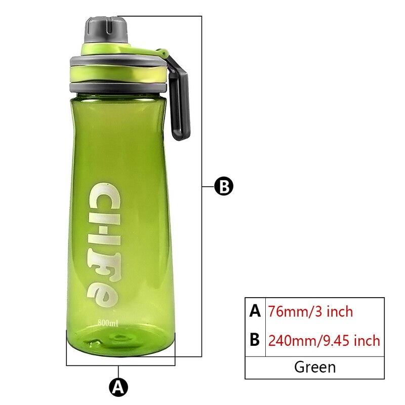800Ml Plastic Nutrition Shaker Protein Water Bottle Leak Proof Eco-Friendly Plastic Drinking Bottle Sports Water Bottles
