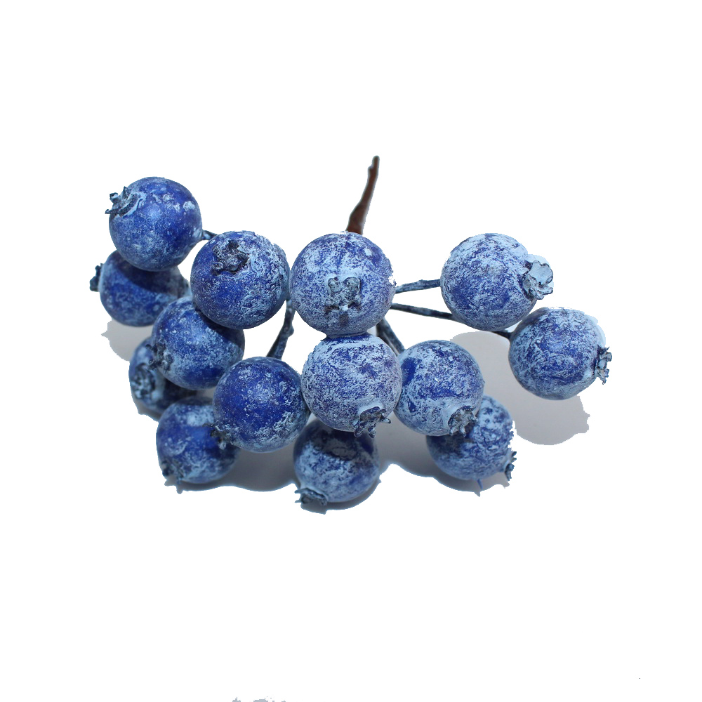 1bundle lot 14 heads artificial blueberry wedding home for Aana decoration wedding accessories