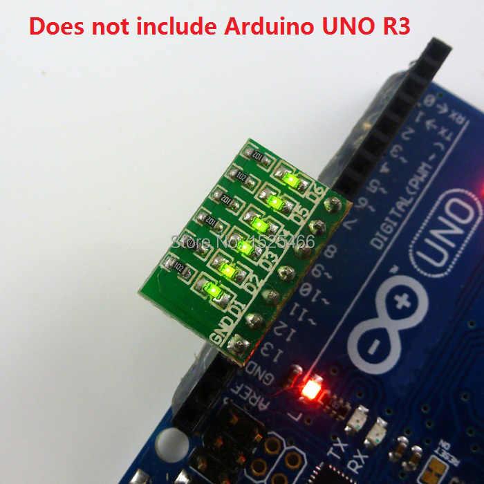 5pcs/lot 3-12V 6Bit Green MCU Expansion LED Module for Breadboard PCB STM8  STM32 Xilinx Altera Lattice Actel Atmel FPGA CPLD PLD