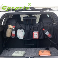 Car Auto Back Rear Trunk Seat Elastic String Net Mesh Storage Bag Pocket Cages KXL0705