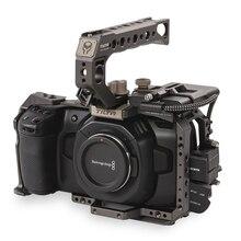 Tilta BMPCC 4K клетка TA-T01-B-G тактическая готовая или серая Полная Клетка SSD держатель привода верхняя ручка для BlackMagic BMPCC4K камеры