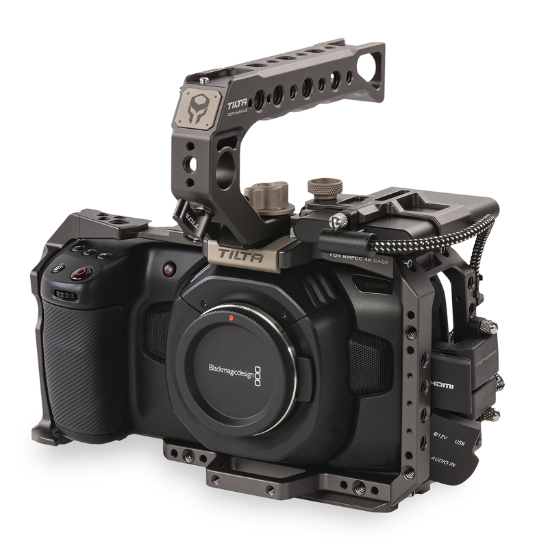 Tilta BMPCC Gaiola TA-T01-B-G 4K Tático acabados ou Cinza BMPCC4K Unidade SSD Titular Alça Superior para BlackMagic Gaiola Cheia câmera