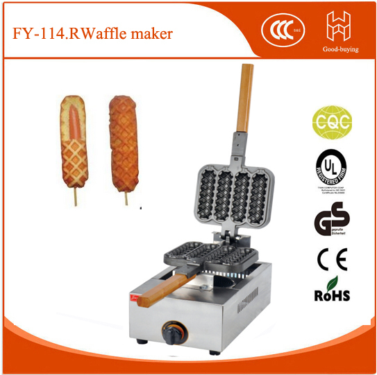 Freeshipping 4 pieces kit machine snack muffin baker hotdog commercial GAS belgian waffle Lolly waffle maker