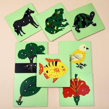 Wooden Montessori Toys Infant Animal Puzzle Preschool Educational
