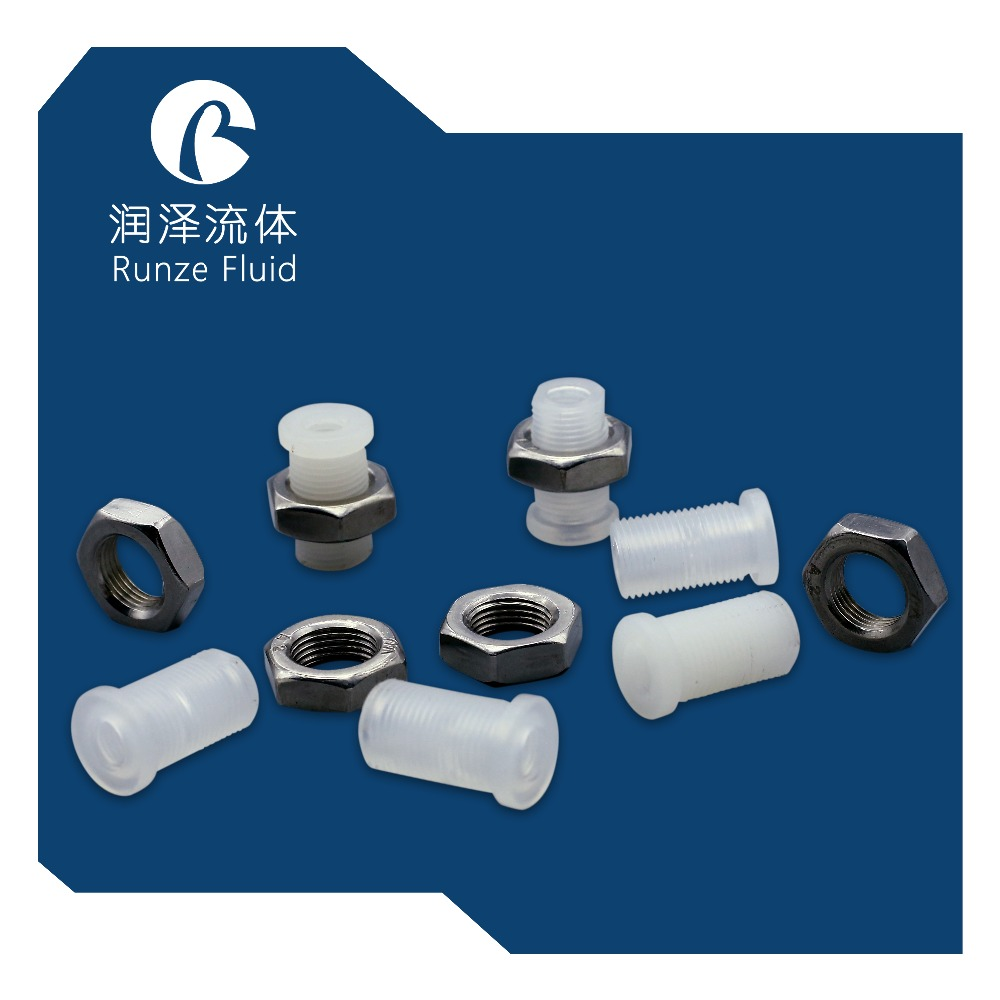 Plastic Bulkhead Union with 1 4 28UNF Female Screw in Pipe Fittings from Home Improvement