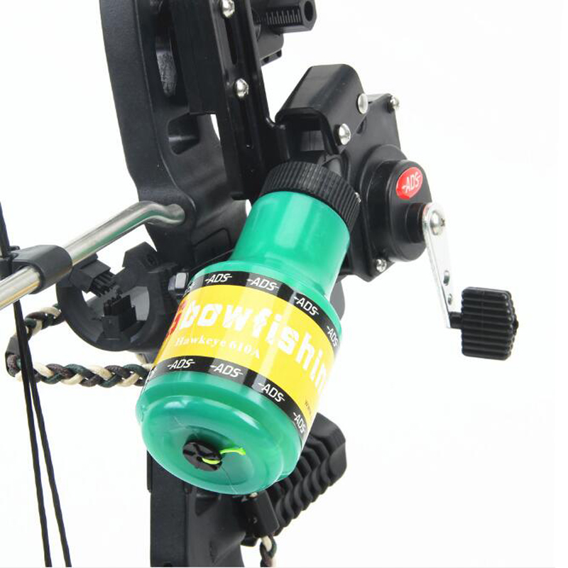 Archery ADS Fishing Spincast Reel Bottle Rope Used For Compound Bow Recurve Bow Right Hand Left