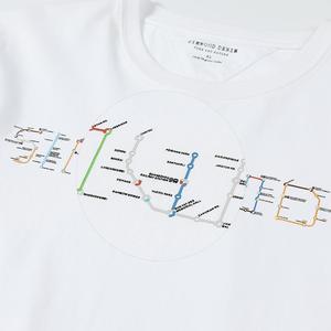 Image 2 - Simwood 2020 verão t shirt men metro mapa imprimir moda tshirt casual manga curta 100% algodão mais tamanho topos 190162