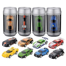 Mini Coke Can RC Radio Remote Control Micro Racing Car Birthday Gift ColorRandom