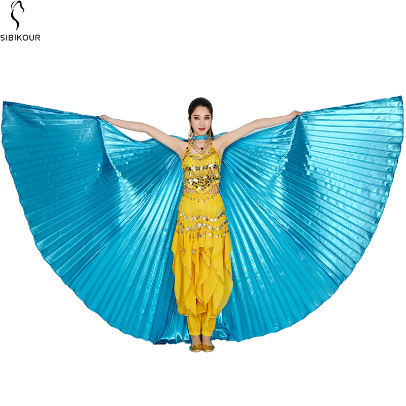 HTB13gWybRWD3KVjSZKPq6yp7FXal - Belly Dance Isis Wings Belly Dance Accessory Bollywood Oriental Egypt Egyptian Wings Costume With Sticks Adult Women Gold