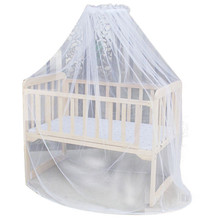 New mosquito bar Nursery Baby Cot Bed Toddler Bed or Crib Canopy Home Mother Mosquito Net White P15(China)