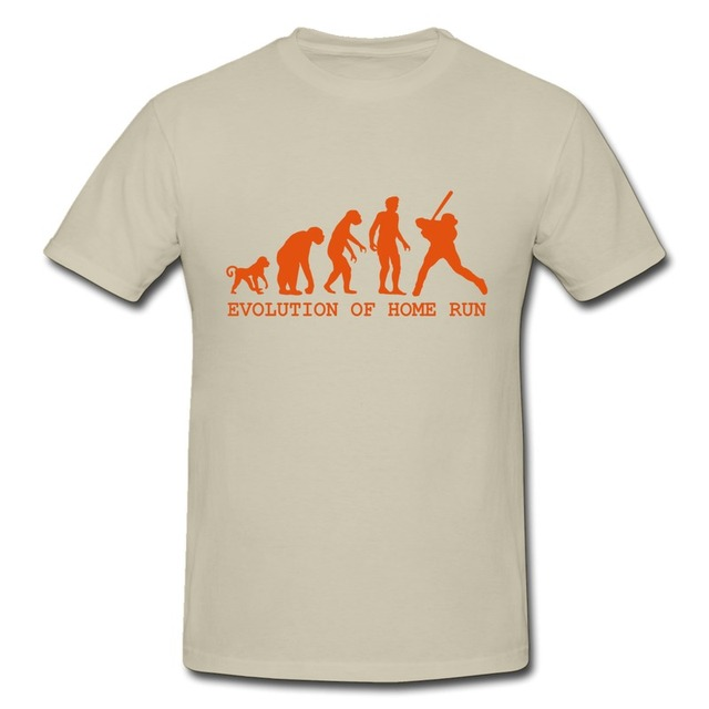 Solid Men S Tee Evolution Home Run Funny Quotes Mens T Shirts 2014