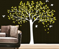 2.2 m large birds family tree wall stickers vinyl DIY Home Art mural living room wallpaper room wall decals decorate Y 66