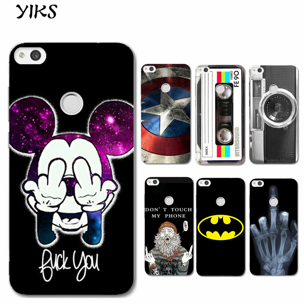 for fundas huawei p8 lite 2017 case cool cartoon hard pc back cover new arrival coque for huawei