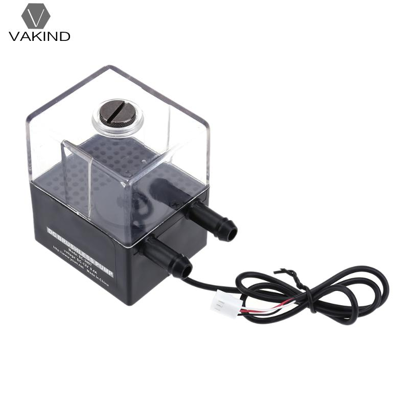 DC 12V Super Silent Water Pump Mute Circulation Pump Tank for Computer PC Water Cooling System mini water pump zx43a 1248 plumbing mattresses high temperature resistant silent brushless dc circulating water pump 12v 14 4w