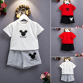 Mickey Baby Girls Boys Sets Clothing Minnie Mouse Cartoon Kids Print T Shirts+Sport Shorts Track Suits  Enfant Fille