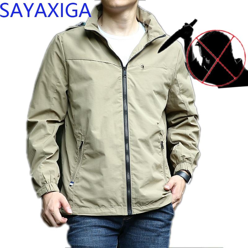 Careful Self Defense Anti-cut Jacket Men Anti Stab Clothing Anti-knife Cut Resistant Hooded Velvet Outfit Stealth Stab Jackets Coatxxxxx Jackets & Coats