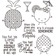 AZSG Fruits Drink Silicone Clear Stamps/Seal For DIY Scrapbooking Decorative Card Making Craft Fun Decoration Supplies