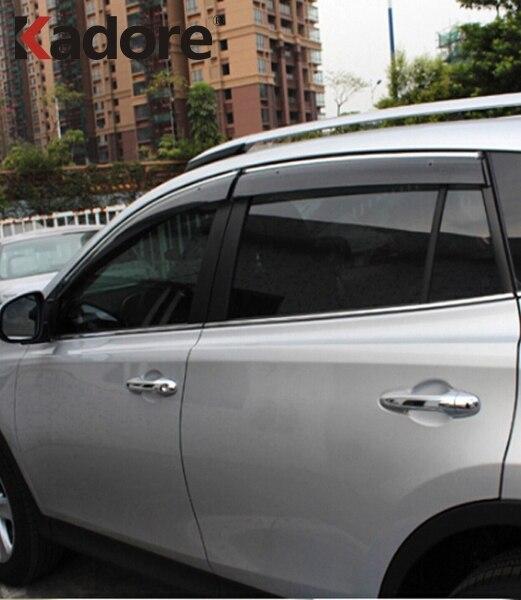 Pour Toyota RAV4 RAV 4 2013-2016 2017 déflecteurs de fenêtre de voiture déflecteur de Vent garde-soleil pluie Vent Vent pare-brise couverture accessoires de voiture
