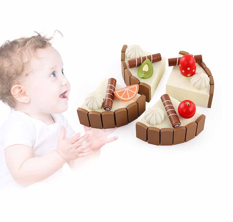 Kids Toys Birthday Cake Wooden Magnetic Cake Kitchen Early Educational Toys Baby Play Games Brinquedos Simulation Toys Gift