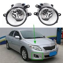 Для Toyota Corolla 2008-2010 2 шт Противотуманные фары для Avensis Camry Ractis Verso RAV4 2003-2014 галогенные лампы решетка обложки переключатель проводов