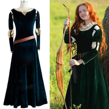 Brave Movie cosplay Princess Merida Cosplay Costume Outfit Halloween party princess cosplay clothes For Girl  drama Dresses велосипед merida matts j 20 girl 2017