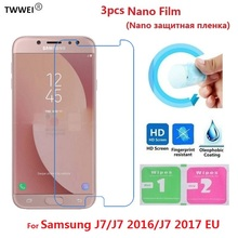 3pcs Protective Film on the for Samsung Galaxy J7 2017 EU 2016 Screen Protector for Samsung J7 2017 Film Cover Foil (Not Glass)
