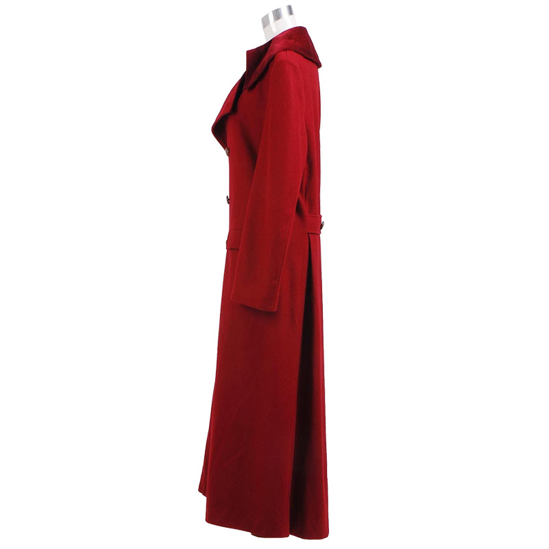 Doctor Who 4th Doctor Coat Cosplay Costume Long Red Wool Trench Fall Winter Outerwear Halloween Christmas Coat - 2