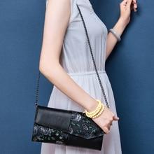 BAQI Brand Handbags Women Shoulder Bag 2019 Fashion Genuine Leather Cowhide Lady Evening Crossbody Messenger Girls