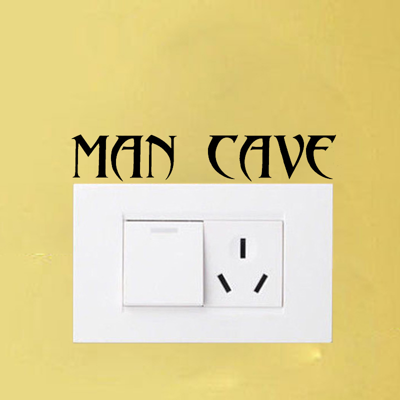 MAN CAVE Bedroom Wall Door Hoome Decor Switch Stickers Decals A1237 ...