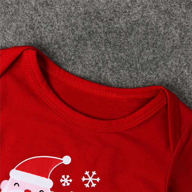 """""""My First Christmas!"""" 2PC/Set - Long Sleeve Cotton Onsie + Deer Pants X-Mas Outfit 5"""