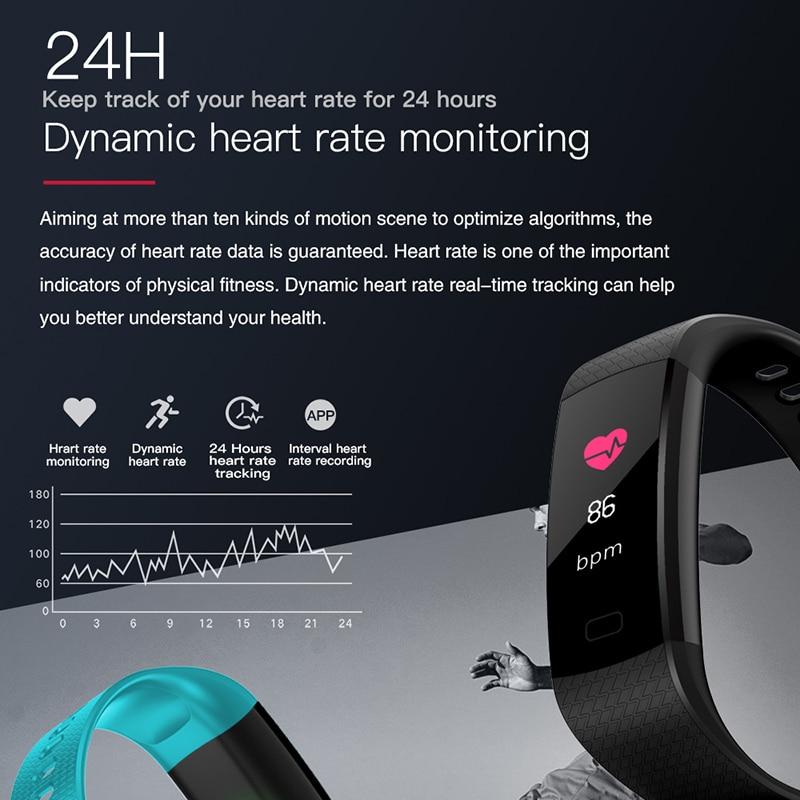 Image 3 - Смарт браслет Y5 монитор кровяного давления сердечного ритма высокое фитнес трекер цветной экран умный браслет для мужчин android-in Смарт-браслеты from Бытовая электроника