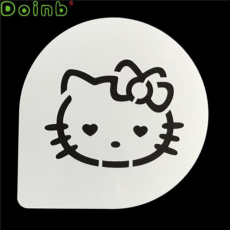 Cartoon Cookie Coffee Stencil Hello Kitty Cake Decorating Fondant