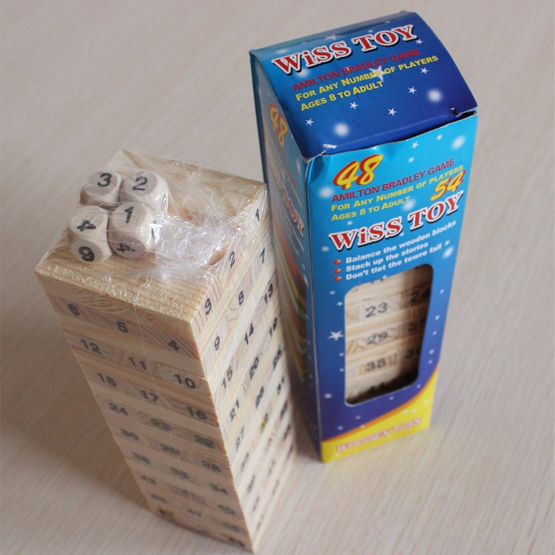 Mini Tumbling Stacking Tower Digital Wooden Puzzles - Ойындар мен басқатырғыштар - фото 5