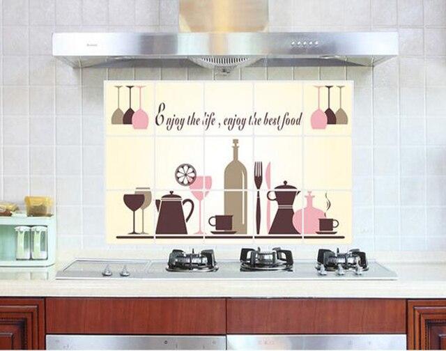 Vinyl Voor Keuken : Wijnglas servies keuken muurschildering anti olie plakken waterdicht