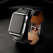 Роскошный классический браслет для Apple Watch 42 мм 38 мм ремешок из натуральной кожи ремешок для iwatch 40 мм 44 мм группа серии 4 3 2 1