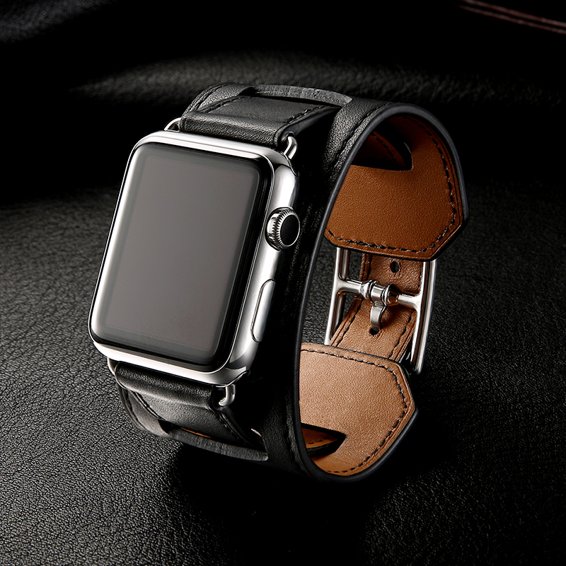 Luxury Classic Original Leather Bracelet belt for Apple Watch 42mm 38mm Band Genuine Leather Strap for iwatch Band Series 3 2 1 genuine leather loop band for apple watch band 42mm 38mm strap bracelet for iwatch series 1 2 3 adjustable magnetic closure belt