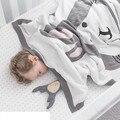 90*120 CM Algodão Cobertor Do Bebê Dos Desenhos Animados Coelho da Raposa Engrossar Knitt Dois Lados Jacquard Cobertor Swaddle Me Bebê Coberto Fundamento do bebê