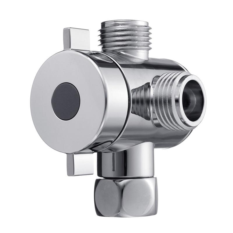 Chrome 3 Handles Thermostatic G1//2 4-Ways Shower Mixer Control Valve Diverter