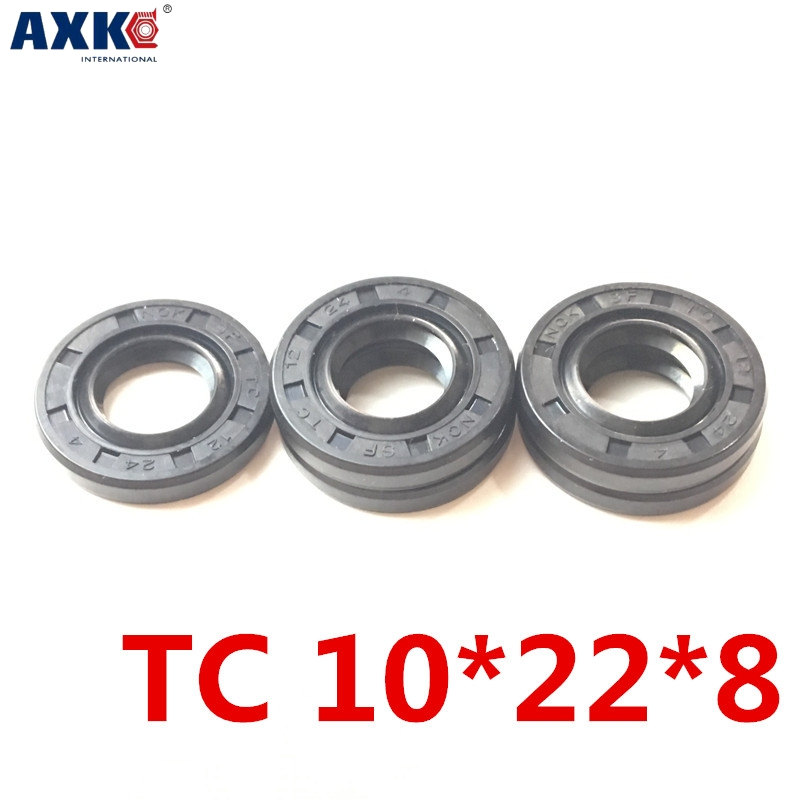 10pcs AXK 10x22x8 TC10x22x8 NBR Skeleton Oil Seal <font><b>10*22*8</b></font> Seals AXK high-quality Seals Radial shaft seals image