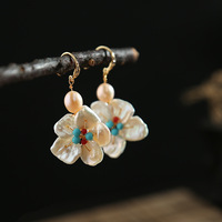 pearls or spoil a hoard of restoring ancient ways the blossom flower fashion earrings ears hang wholesale distribution