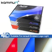 KAMMURI Styling Car 4D Logo Luz Fria Emblema Traseiro Luzes Logotipo Do Emblema de Luz para Renault Koleos Megane Renault Latitude