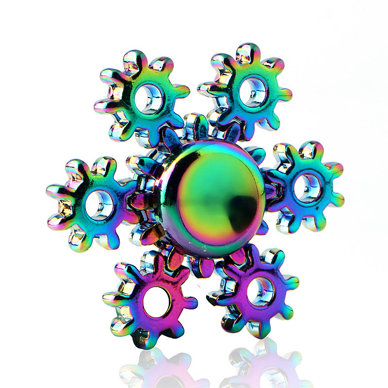 Nut Parts Colorful Fidget Spinner EDC Hand Spinners Autism ADHD Kids Christmas Gifts Metal Finger Toys Spinners