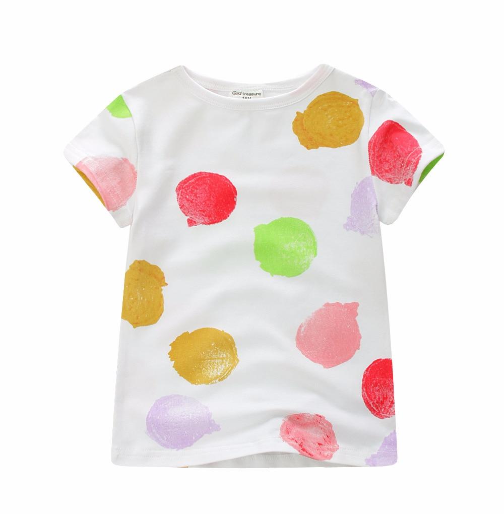 # Lhh52 Del Bambino Delle Ragazze Del Manicotto Del Bicchierino Del Puntino Di Colore T-shirt