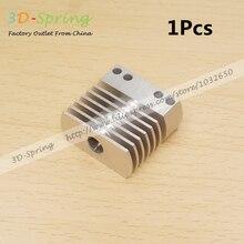 1 Шт. 3D Принтер CR8 Дистанционного Радиатор Экструдер Цельнометаллический Радиатора 1.75 3 мм Может фиксированной вентилятор Горизонтальный установить