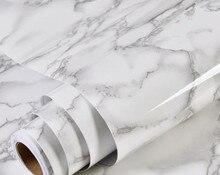 Толстые водостойкие ПВХ имитация мрамора шаблон наклейки обои самоклеящиеся обои Гостиная Мебель Ремонт