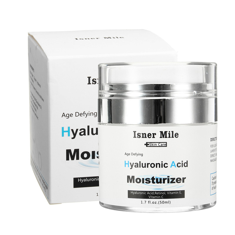 Hyaluronic Acid Vitamin A+E Retinol Moisturizer Face Cream 50ml Heal Dryness Anti Aging Fine Lines Wrinkles Whitening Cream retinol face serum with hyaluronic acid vitamin e anti aging retinol serum for wrinkles fine lines and sensitive skin meiking